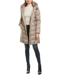 Tahari Long Down Coat - Brown