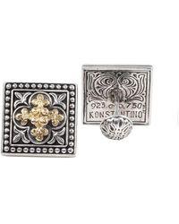 Konstantino Core 18k & Silver Cufflinks - Metallic