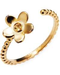 Marc Jacobs Daisy Open Ring - Metallic