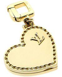 Louis Vuitton Louis Vuitton 18k Heart Locket Pendant - Metallic