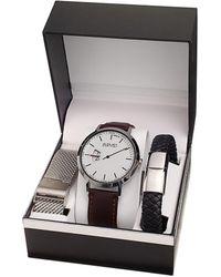 August Steiner Men's Leather Watch - Multicolour
