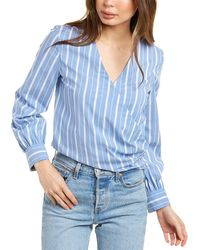 Theory Quincy Wrap Top - Blue