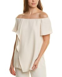 Halston Off-the-shoulder Top - White