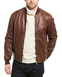 Brunello Cucinelli Leather Jacket - Brown