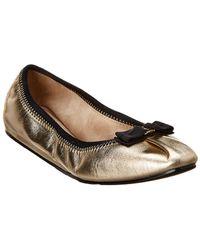 Ferragamo My Joy Silky Leather Ballet Flats - Multicolour