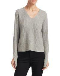 Sea Bleu Cashmere Ribbed Sweater - Gray