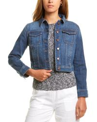 Eileen Fisher Petite Cropped Denim Jacket - Blue