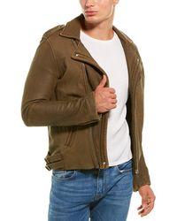 IRO Aronel Leather Biker Jacket - Brown