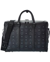 MCM Soft Berlin Visetos & Leather Briefcase - Black
