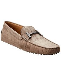 Tod's Gommino Leather Loafer - Gray