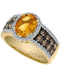 Le Vian ? 14k 1.67 Ct. Tw. Diamond & Citrine Ring - Metallic