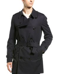 Burberry Short Chelsea Fit Trench Coat - Black