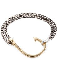 Miansai - Polished Hook On Chain Station Bracelet - Lyst