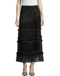 Banjanan - Katie Polka Dot Print Maxi Skirt - Lyst