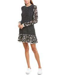 Twin Set Twinset Cable-knit Wool Sweaterdress - Black