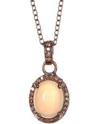 Adornia - Fine Jewellery Silver 0.33 Ct. Tw. Diamond & Opal Necklace - Lyst