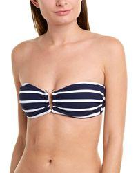 Shoshanna U - Slide Bandeau Bikini Top - Blue