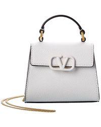 Valentino Vlogo Leather Belt Bag - White