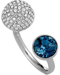 Swarovski Crystal Rhodium Ring - Blue