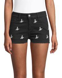 Zadig & Voltaire Prima Brode Denim Shorts - Black