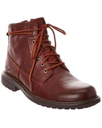 UGG Morrison Lace-up Leather Boot - Brown