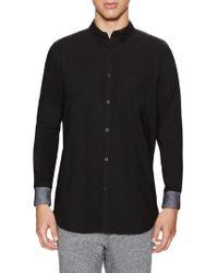 Zanerobe Seven Ft. Rib Cuff Sportshirt - Black