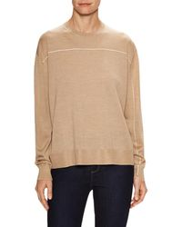 Céline - Wool Trimmed Rib Sweater - Lyst