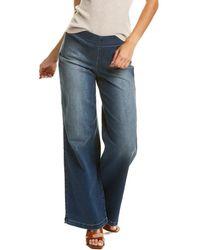 NYDJ Pull On Wide Leg Jean - Blue