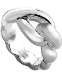 Hermès - Twisted Silver Ring - Lyst