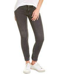 AllSaints Allsaints Grace Cropped Zip Washed Black Skinny Jean