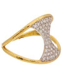 Gurhan Tuxedo 22k 0.39 Ct. Tw. White Diamond Ring - Metallic