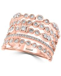 Effy - Pave Rose Diamond And 14k Rose Gold Ring, 0.94 Tcw - Lyst
