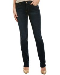 7 For All Mankind 7 For All Mankind Kimmie Dark Moonbay Straight Leg - Blue