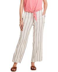 NIC+ZOE Grapefruit Stripe Linen-blend Pant - Multicolour