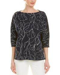 Lafayette 148 New York Jacquard Sweater - Black