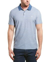Original Penguin Twill Auto Stripe Polo Shirt - Blue