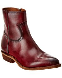 Frye Billy Inside Zip Leather Bootie - Red