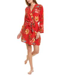 Johnny Was Evelyn Silk Robe - Red
