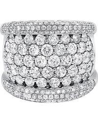 Diana M. Jewels . Fine Jewellery 18k 3.86 Ct. Tw. Diamond Ring - Multicolour