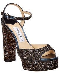 e54b0ec739e6 Jimmy Choo - Peachy 125 Glitter Sandal - Lyst