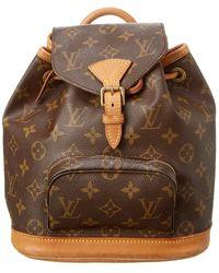 Louis Vuitton Monogram Canvas Montsouris Backpack Pm - Brown