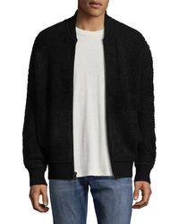 Vince Wool-blend Bomber Jacket - Black