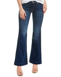 7 For All Mankind 7 For All Mankind Tailorless Dojo Medium Wash Bell Bottom - Blue