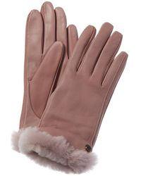 UGG Classic Leather Tech Gloves - Pink
