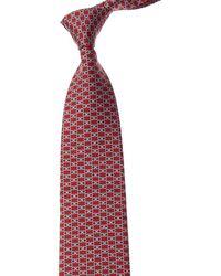 Ferragamo Red Gancini Silk Tie