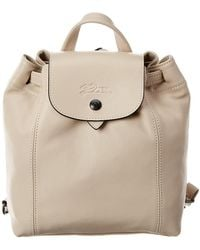 Longchamp Le Pliage Cuir Xs Leather Backpack - Natural