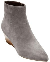 Cole Haan Eneida Suede Wedge Bootie - Grey