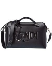 Fendi By The Way Medium Leather Shoulder Bag - Black