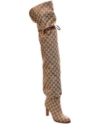 Gucci Original GG Over The Knee Boots - Brown