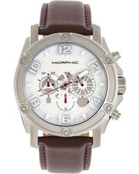 Morphic M73 Series Chronograph Quartz White Dial Mens Watch - Metallic